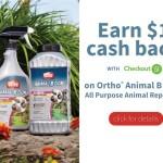 Ortho Animal Repellant $1 Cash Back