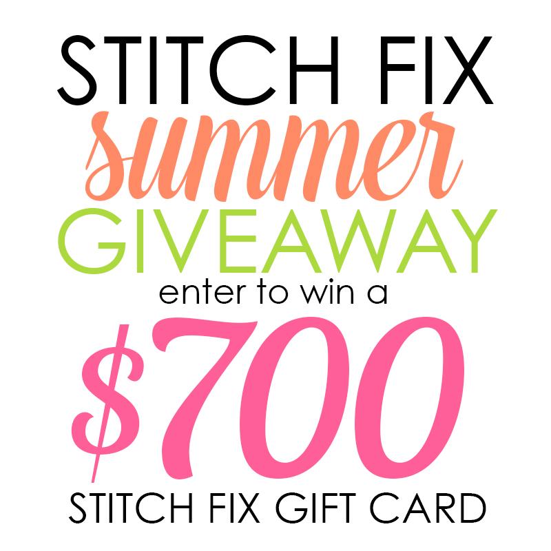Enter to Win $700 to Stitch Fix