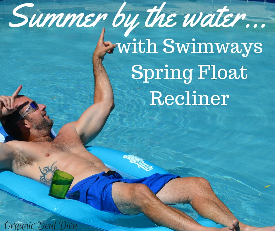 Summer by the Water with Swimways Spring Float Recliner