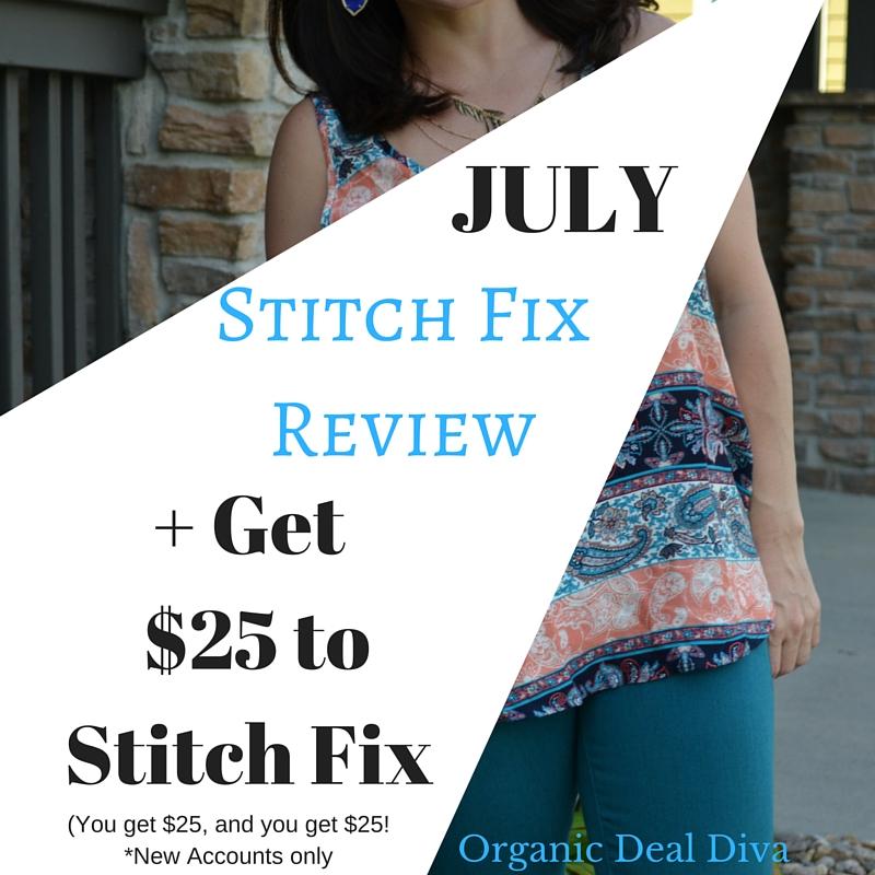 July Stitch Fix Review and Get $25 to Stitch Fix!
